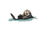 Sea Otter - Icon Lámina giclée prémium por  Lantern Press