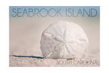 Seabrook Island, South Carolina - Sand Dollar and Beach Kunstdrucke von  Lantern Press