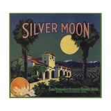 Silver Moon Brand - San Fernando, California - Citrus Crate Label Affiches par  Lantern Press