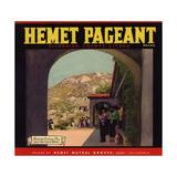 Hemet Pageant Brand - Hemet, California - Citrus Crate Label Taide tekijänä  Lantern Press