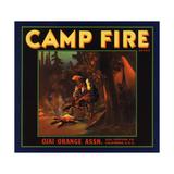 Camp Fire Brand - Ojai, California - Citrus Crate Label Julisteet tekijänä  Lantern Press