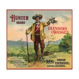 Hunter Brand - Glendora, California - Citrus Crate Label Julisteet tekijänä  Lantern Press