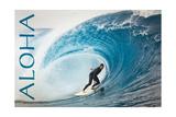 Surfer in Perfect Wave - Aloha Posters av  Lantern Press