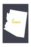 Arizona - Home State- Gray on White Posters av  Lantern Press