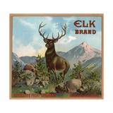 Elk Brand - Riverside, California - Citrus Crate Label Julisteet tekijänä  Lantern Press