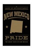 New Mexico State Pride - Gold on Black Plakater av  Lantern Press
