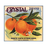 Crystal Brand - Riverside, California - Citrus Crate Label Poster tekijänä  Lantern Press
