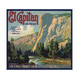 El Capitan Brand - San Dimas, California - Citrus Crate Label Kunstdrucke von  Lantern Press