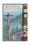 British Columbia, Canada - Totem Pole Posters af  Lantern Press