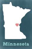 Minnesota - Chalkboard Premium Giclee-trykk av  Lantern Press