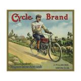 Cycle Brand - Fillmore, California - Citrus Crate Label Poster von  Lantern Press