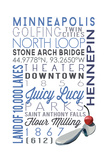 Minneapolis, Minnesota - Typography Poster von  Lantern Press