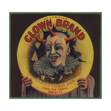 Clown Brand - Canoga Park, California - Citrus Crate Label Julisteet tekijänä  Lantern Press
