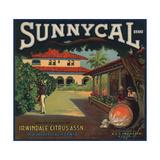 Sunnycal Brand- Irwindale, California - Citrus Crate Label Julisteet tekijänä  Lantern Press