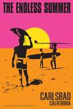Carlsbad, California - The Endless Summer - Original Movie Poster Posters par  Lantern Press