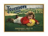 Touchdown Brand - Los Angeles, California - Citrus Crate Label Posters tekijänä  Lantern Press