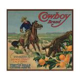 Cowboy Brand - Tustin, California - Citrus Crate Label Affiches par  Lantern Press