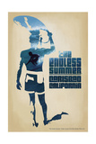 Carlsbad, California - the Endless Summer - Surfer Cutout Scene Posters by  Lantern Press