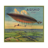 Airship Brand - Fillmore  California - Citrus Crate Label