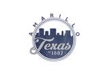 Amarillo, Texas - Skyline Seal (Blue) Posters by  Lantern Press