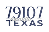 Amarillo, Texas - 79107 Zip Code (Blue) Posters by  Lantern Press