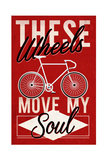 Cycling Moves My Soul - Screenprint Style Prints by  Lantern Press