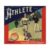 Athlete Brand - Claremont, California - Citrus Crate Label Prints by  Lantern Press