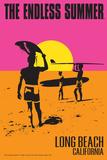 Long Beach, California - The Endless Summer - Original Movie Poster Plakater af  Lantern Press