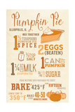 Illiopolis, Illinois - Pumpkin Pie Recipe - Typography Julisteet tekijänä  Lantern Press