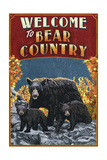 Welcome to Black Bear Country - Vintage Sign Pósters por  Lantern Press