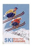 Winter Park, Colorado - Vintage Skiers Prints by  Lantern Press