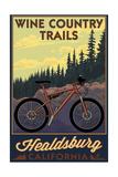 Healdsburg, California - Wine Country Trails Poster by  Lantern Press