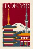 Tokyo - Woodblock Plakater af  Lantern Press