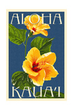 Kauai, Hawaii - Yellow Hibiscus Posters av  Lantern Press