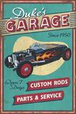 Dukes Garage - Vintage Sign Prints by  Lantern Press