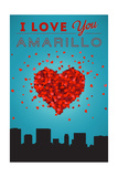 I Love You Amarillo, Texas Posters by  Lantern Press