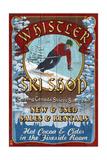Whistler, Canada - Ski Shop Vintage Sign Prints by  Lantern Press