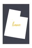 Utah - Home State - White on Gray Poster av  Lantern Press