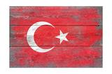 Turkey Country Flag - Barnwood Painting Prints by  Lantern Press