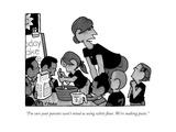 """I'm sure your parents won't mind us using white flour. We're making paste - New Yorker Cartoon Premium Giclee Print by William Haefeli"