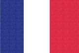 France Country Flag - Letterpress Poster by  Lantern Press