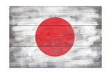 Japan Country Flag - Barnwood Painting Art by  Lantern Press