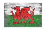 Wales Country Flag - Barnwood Painting Art by  Lantern Press