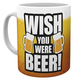 Wish You Were Beer Mug Taza