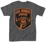 Gas Monkey- Distressed Shield T-skjorte