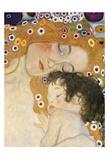 The Three Ages of Woman Detail Plakat av Gustav Klimt