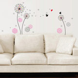 Small Pink Dandelion Wallstickers