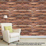 Timber Strips Autocollant mural