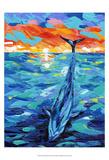 Amigos del océano II Láminas por Carolee Vitaletti