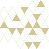 Losanges blancs dorés Posters van  Braun Studio